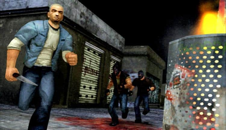A screenshot of Manhunt gameplay
