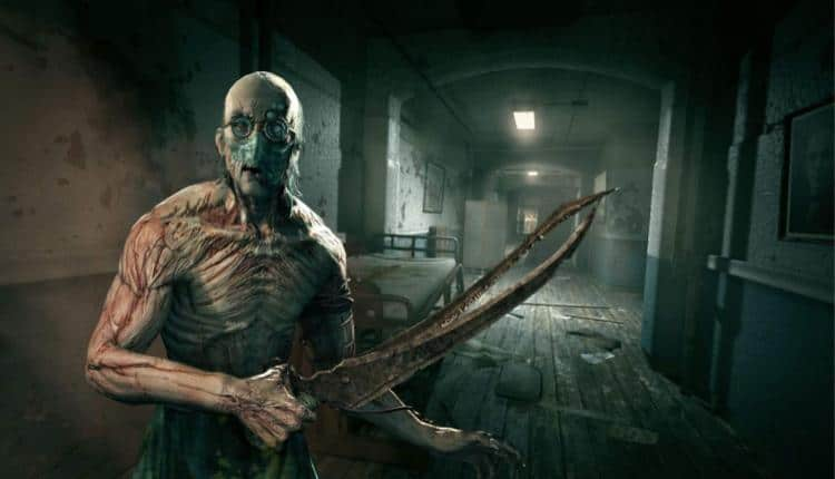 A screenshot of Outlast gameplay