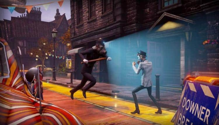 A promotional image for We Happy Few