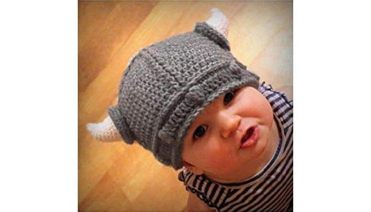 Baby Knitted Viking Hat