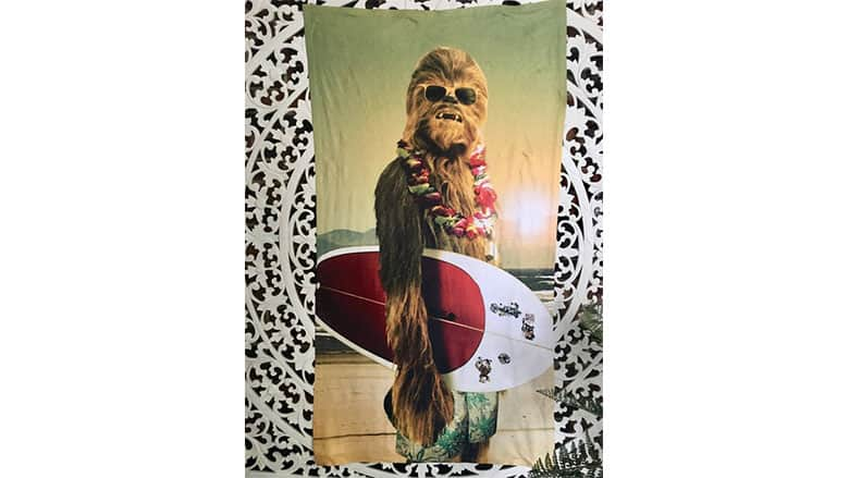 chewbacca beach towel