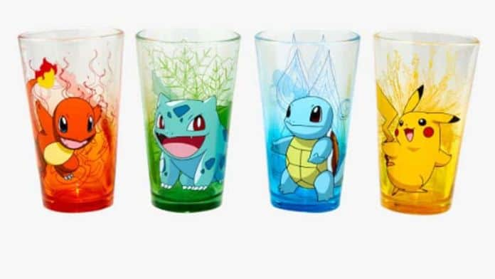 Pokemon Starters Pint Glass Set