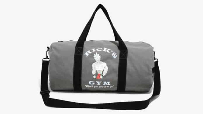 rick and morty gym bag
