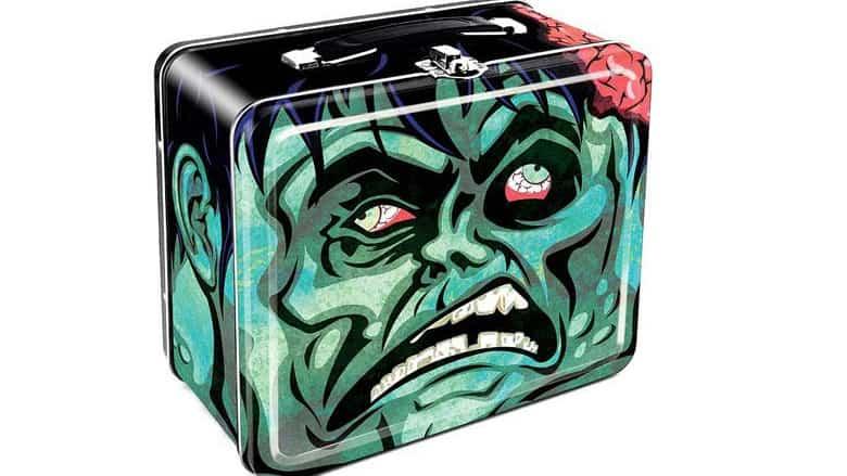 Zombie Head Large Fun Box Tin Tote