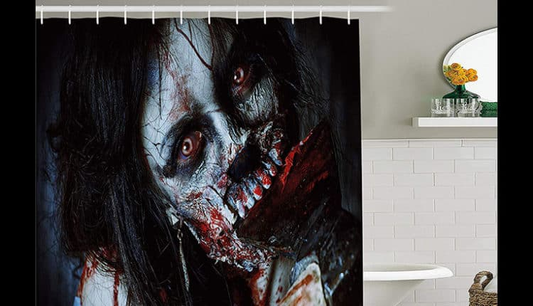 Ambesonne Zombie Shower Curtain