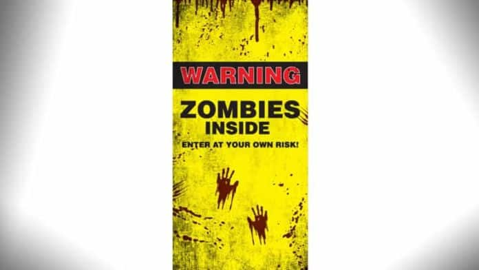 zombies inside door cover