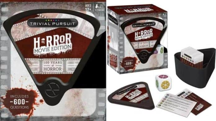 image depicting contents of Horror Movie Trivial Pursuit game