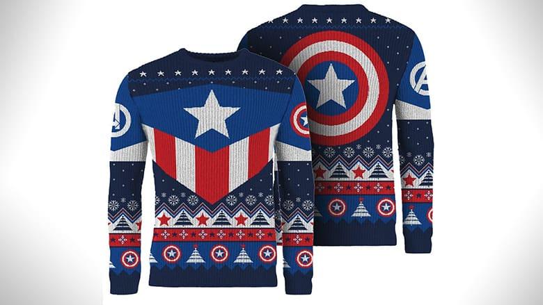 captain america christmas jumper