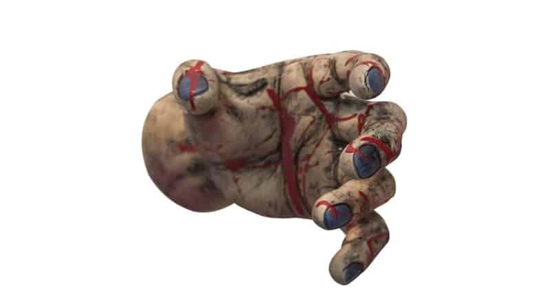 zombie hand door knob