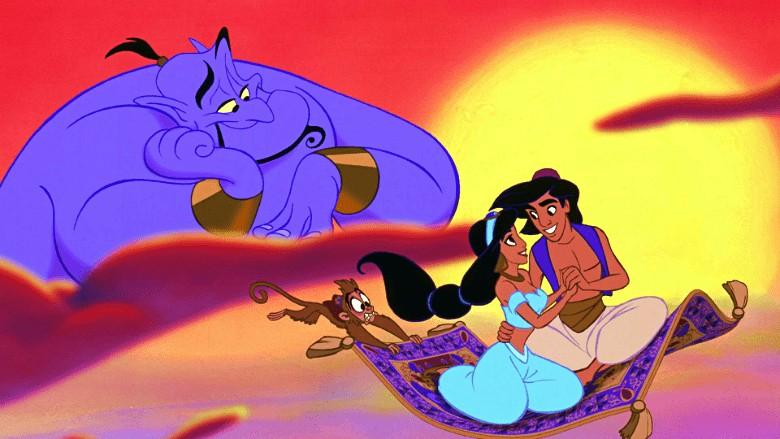Aladdin, Jasmine, Genie