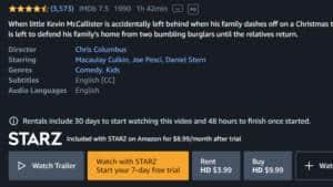 Use the 7-Day Free Trial of Starz via Amazon Prime Video