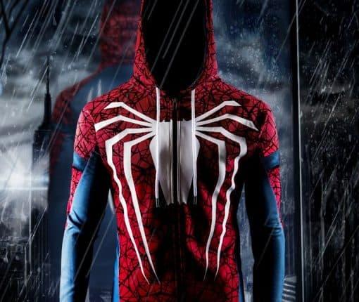 white spider hoodie