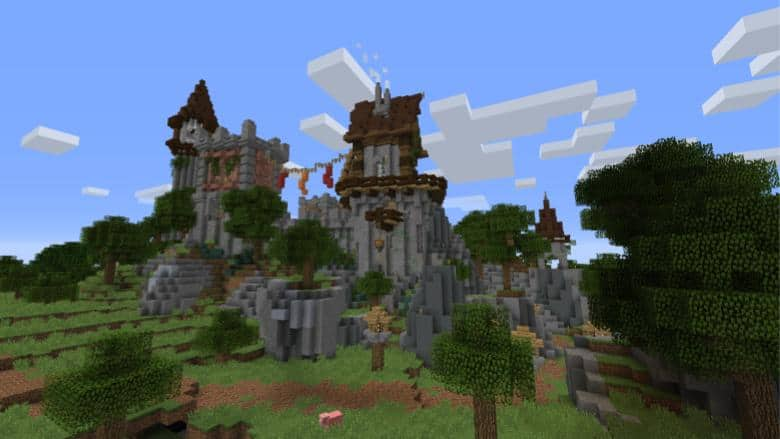 screenshot of minecraft gameplay