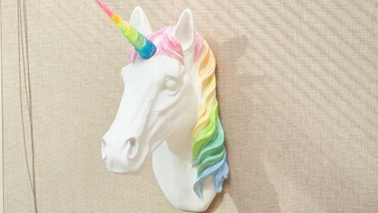Unicorn sconce light