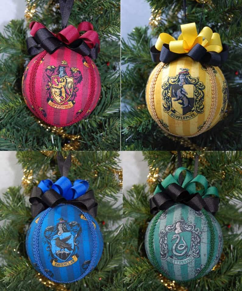 harry potter houses ball ornaments