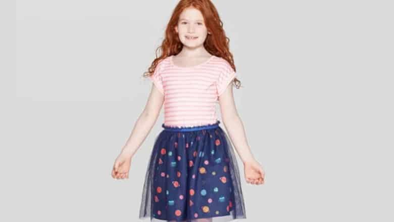 girls space print dress target