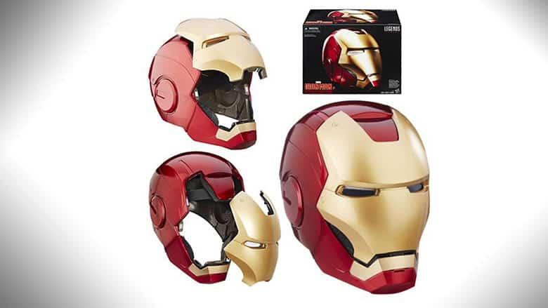 The Marvel Legends Iron Man Electronic Helmet is DOPE!