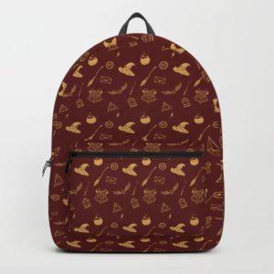 gryffindor pattern backpack