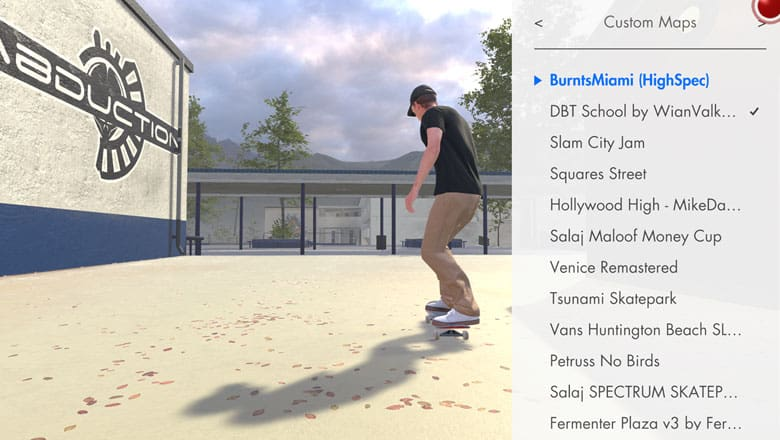 skater xl custom maps