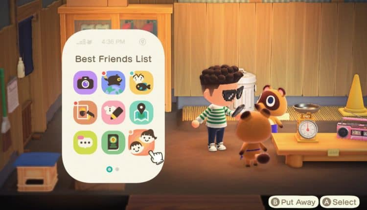 animal crossing best friends list