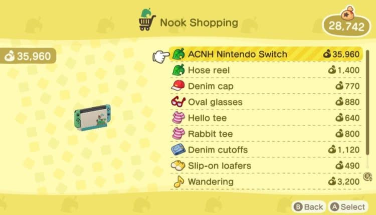nook shopping