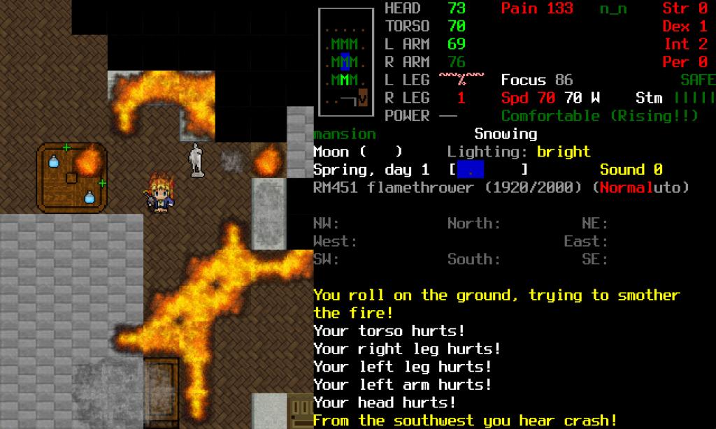 cataclysm on fire